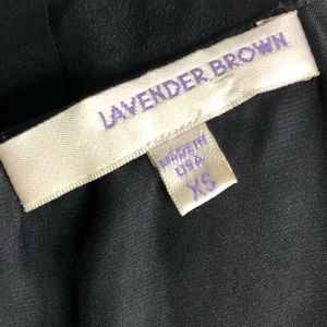 Lavender Brown Dresses - Lavender Brown Black Silk Fringe Dress Long Sleeve